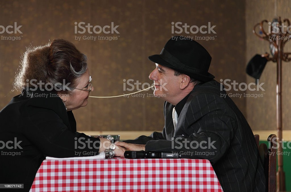 Romantic Gangster Couple royalty-free stock photo
