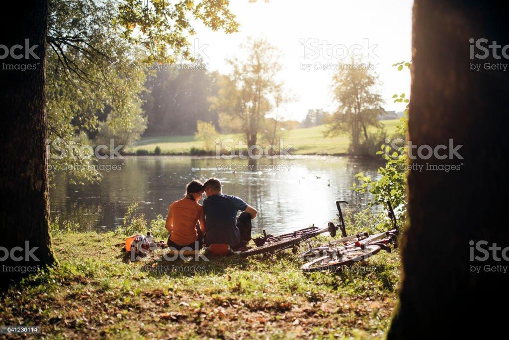 Romantic gateaway stock photo