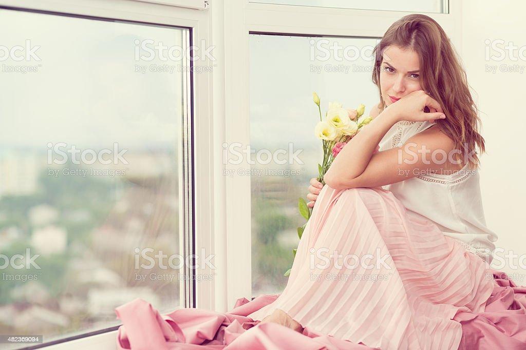 Romantic girl stock photo