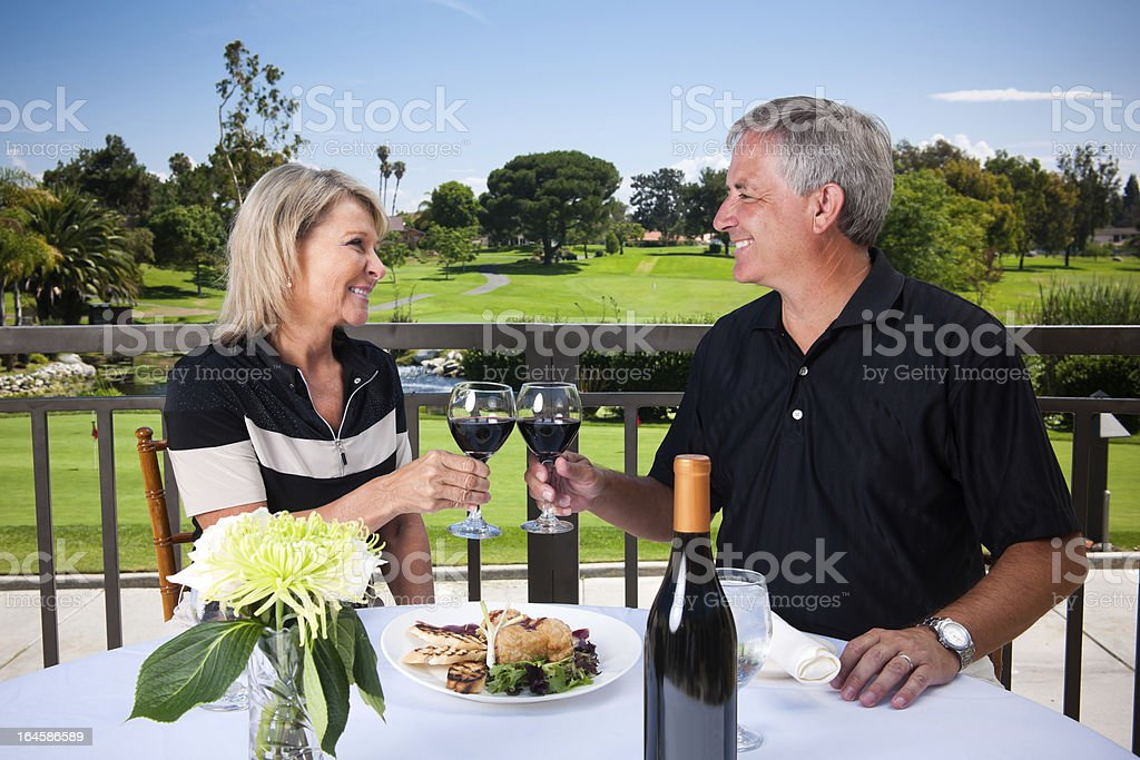 Romantic Golf Couple stock photo