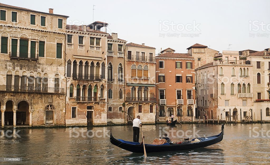 Romantic Gondola Ride royalty-free stock photo