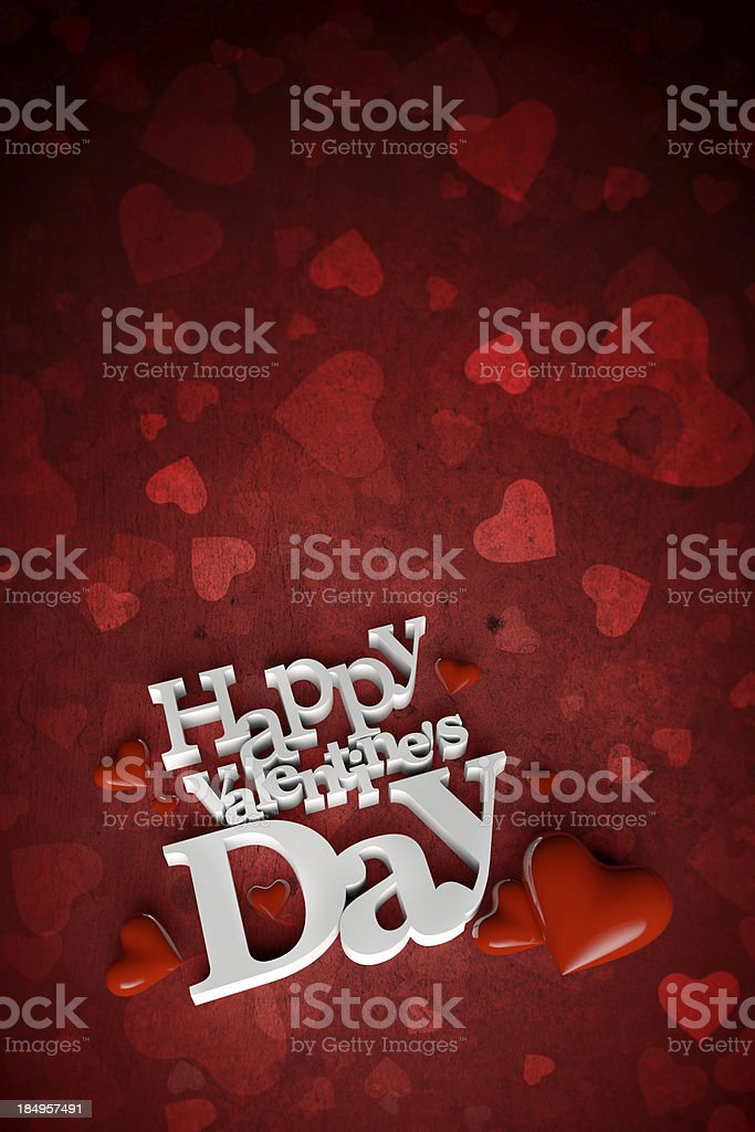 Romantic greeting card royalty-free stock photo