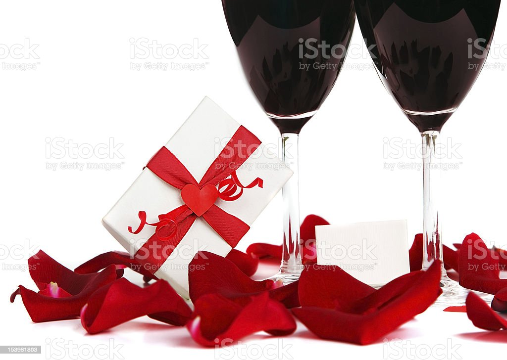 Romantic holiday celebration royalty-free stock photo