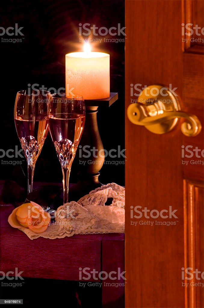 Romantic Honeymoon Night royalty-free stock photo
