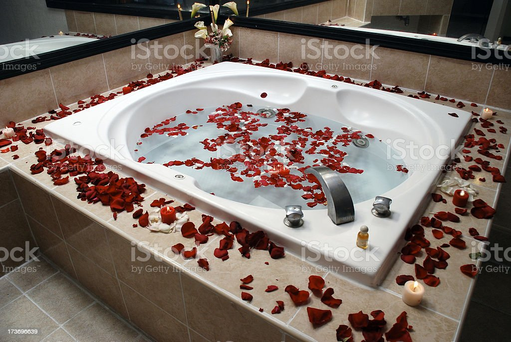 romantic jacuzzi royalty-free stock photo