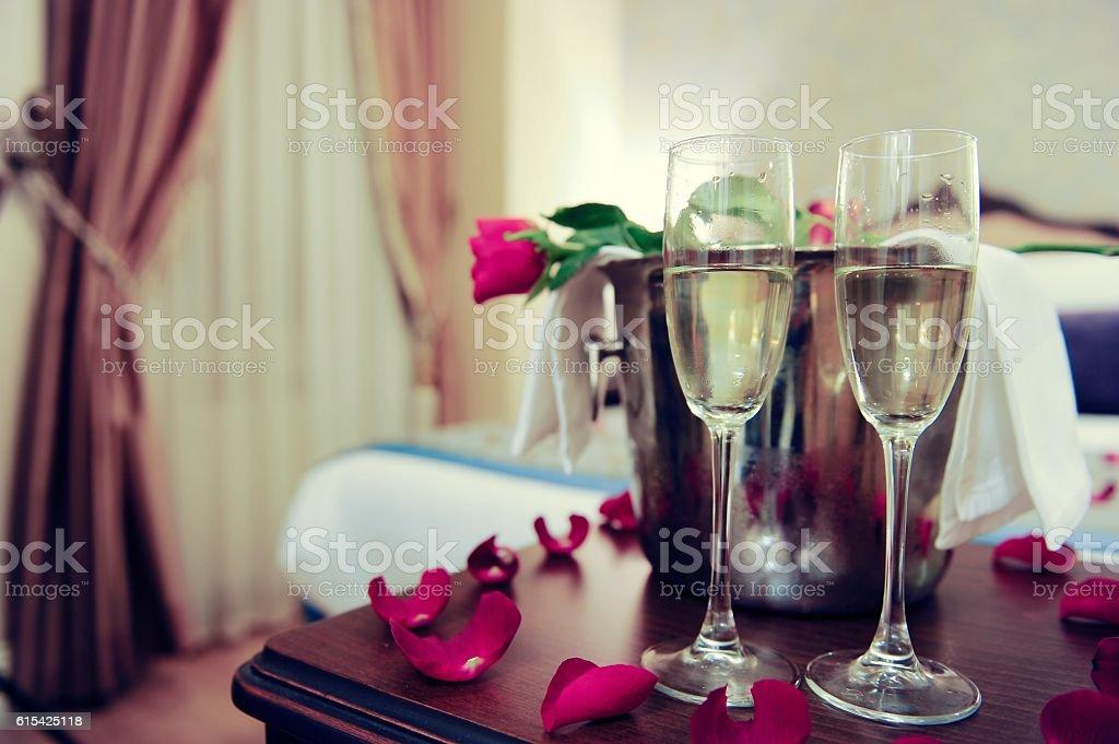 Romantic Hotel Room stock photo