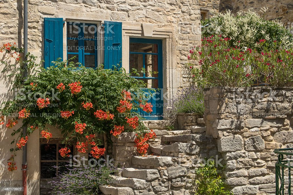 Romantic house in Cabiac, France stock photo