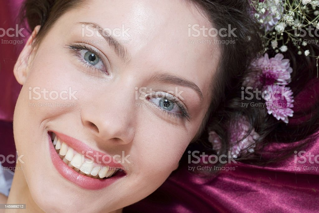 Romantic image of a young woman royalty-free stock photo