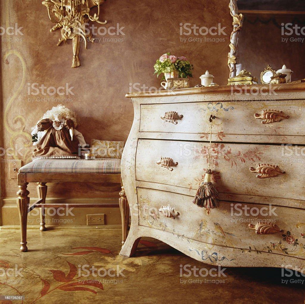 Romantic interior decoration stock photo