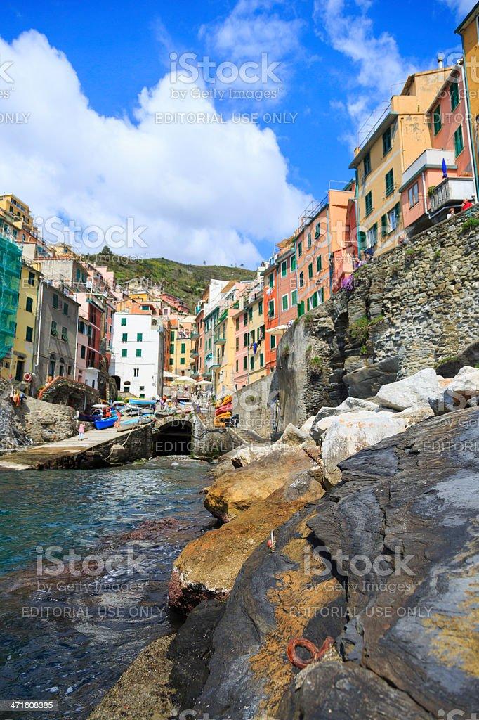 romantic Italian village royalty-free stock photo