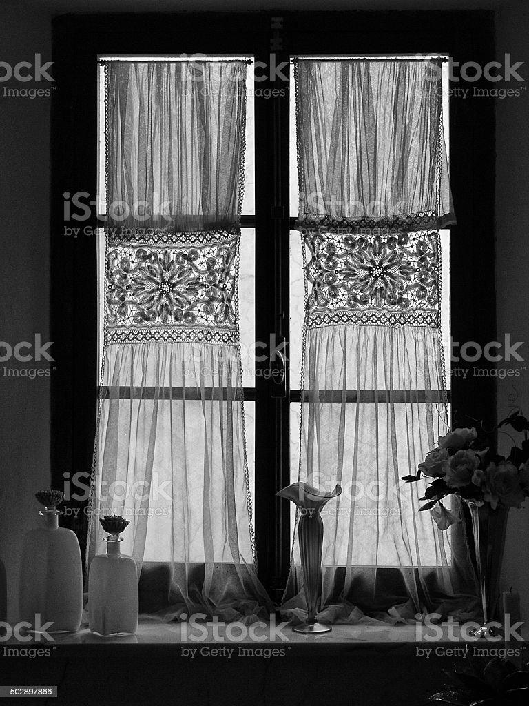 Romantic Italian Window. stock photo