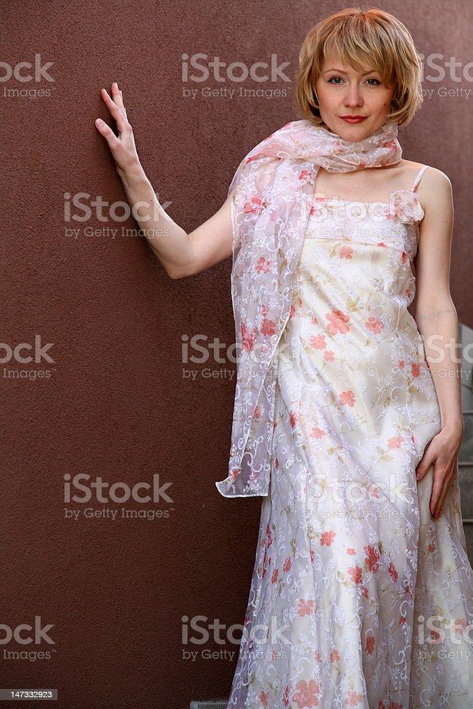 Romantic Lady Before Wedding stock photo