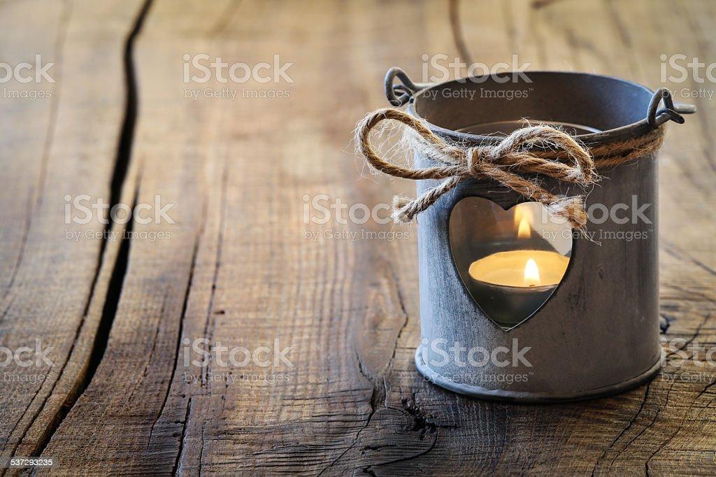 Romantic lantern stock photo