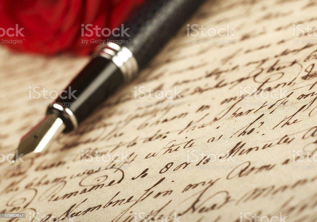 Romantic letter stock photo