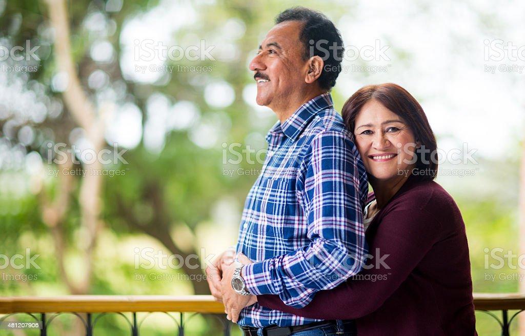 Romantic mature couple stock photo