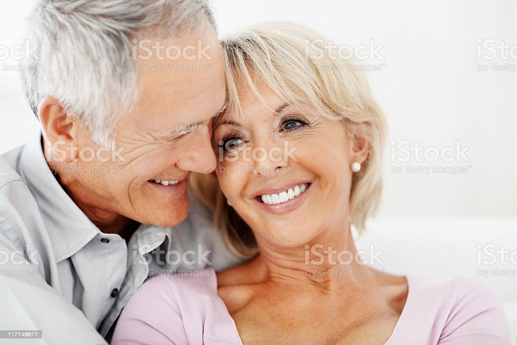 Romantic mature couple spending time together royalty-free stock photo