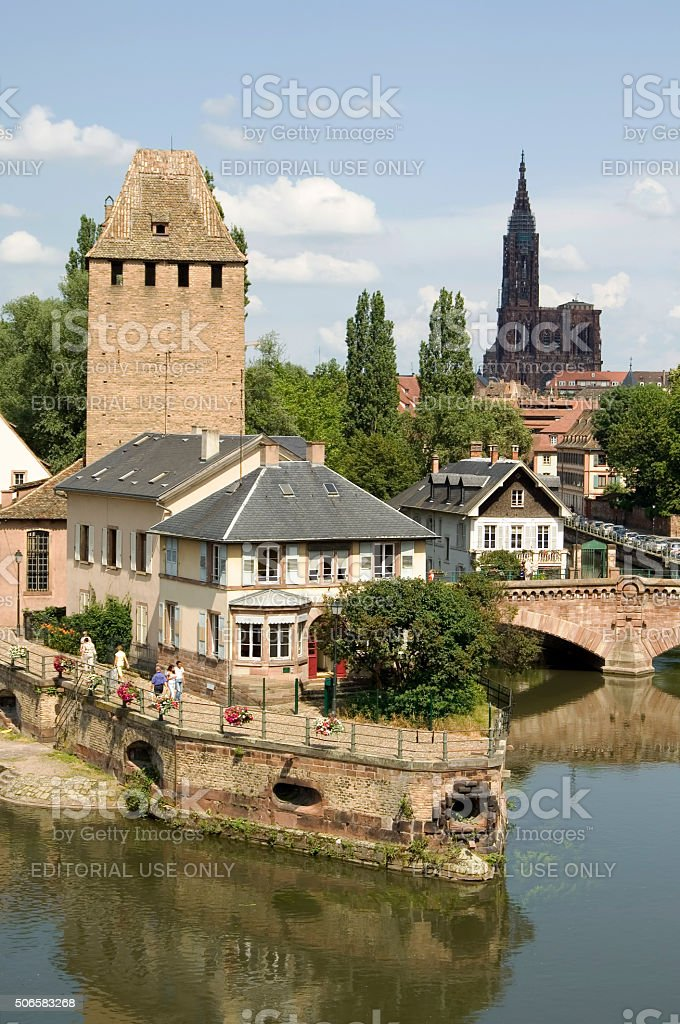 Romantic medieval Strasbourg, France stock photo