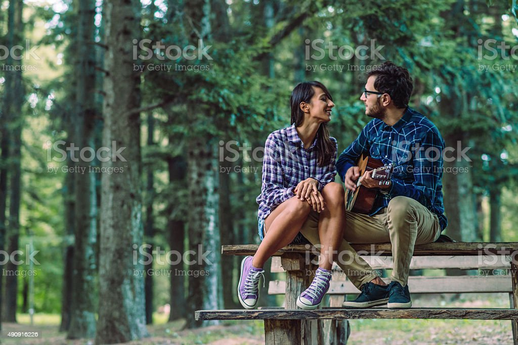 Romantic melodies stock photo