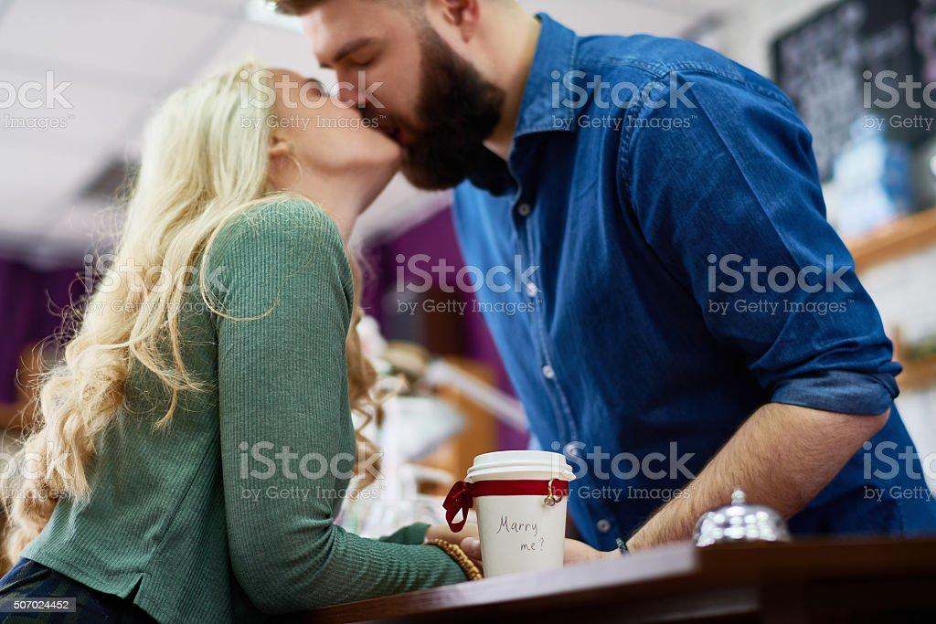 Romantic moment stock photo