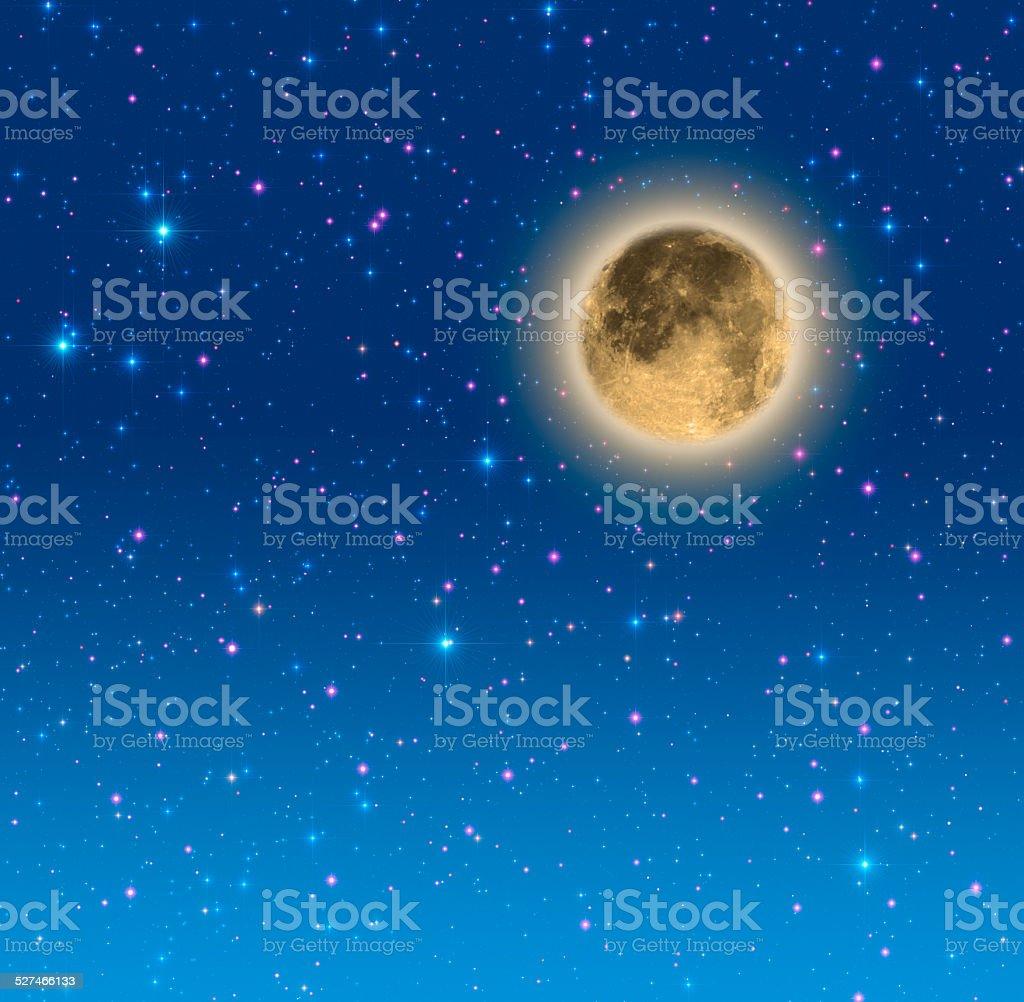 Romantic Moon stock photo