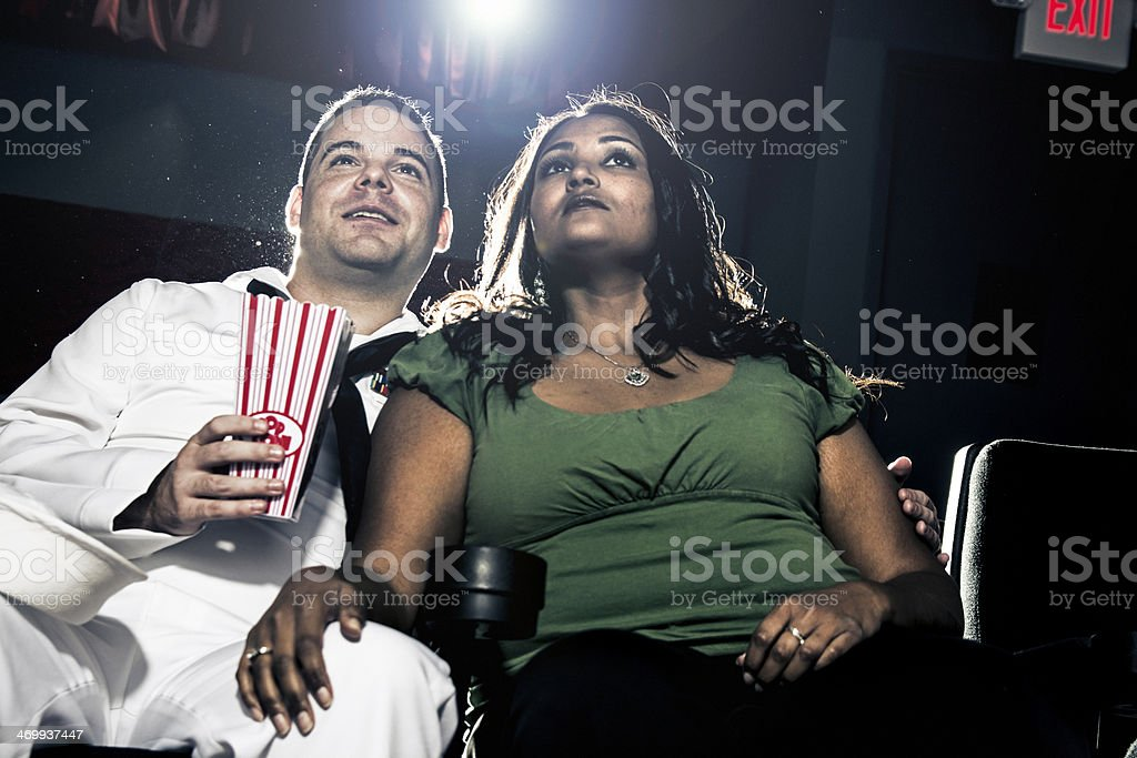 Romantic movie. royalty-free stock photo