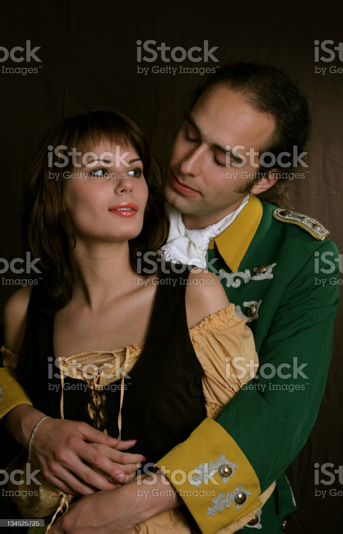 Romantic of military service royalty-free stock photo