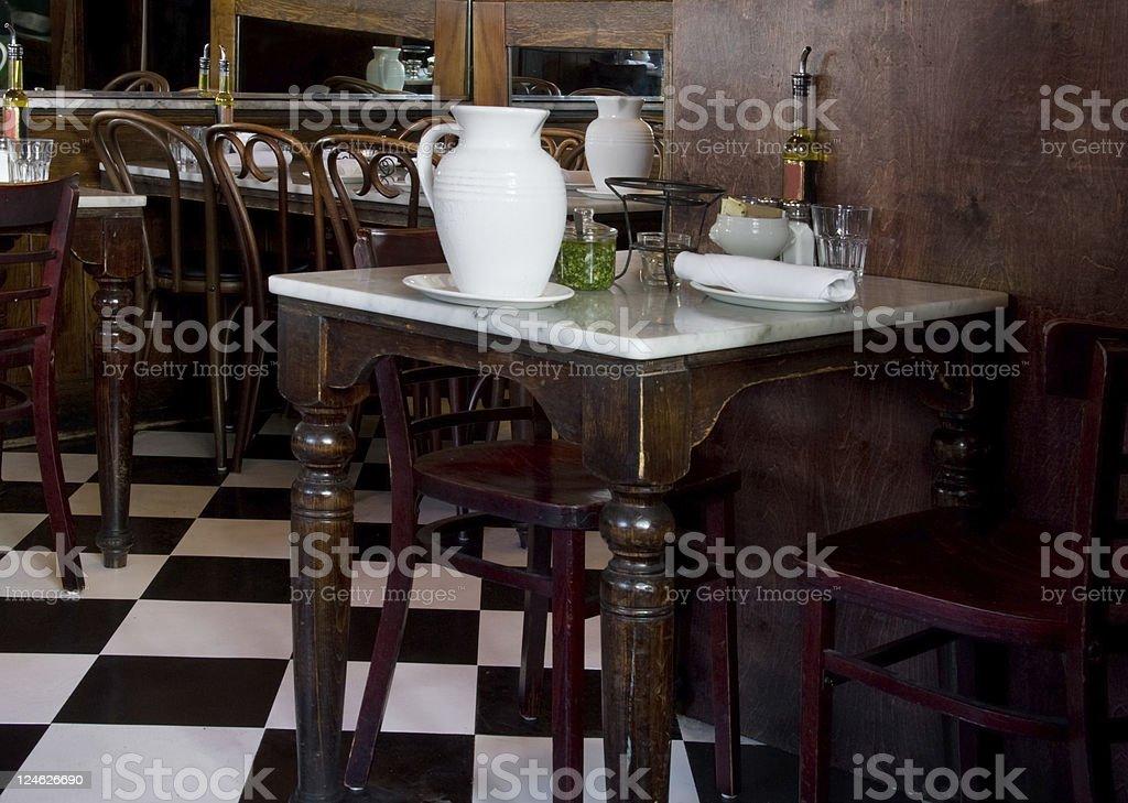 Romantic, Old-fashioned Italian Restaurant stock photo