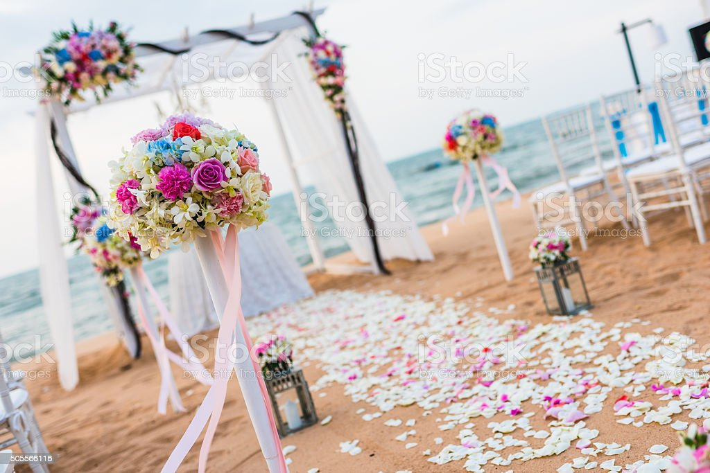 Romantic place for wedding ceremony stock photo