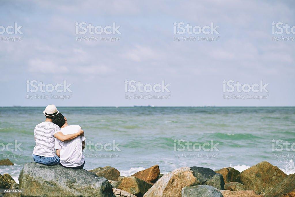 Romantic place stock photo