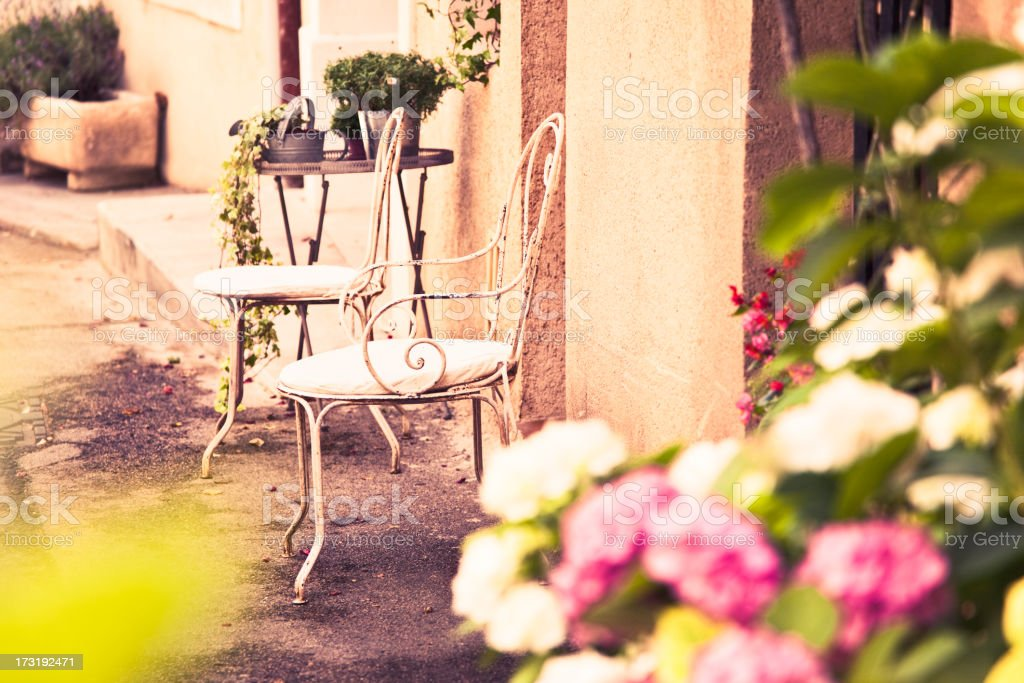 Romantic provence stock photo