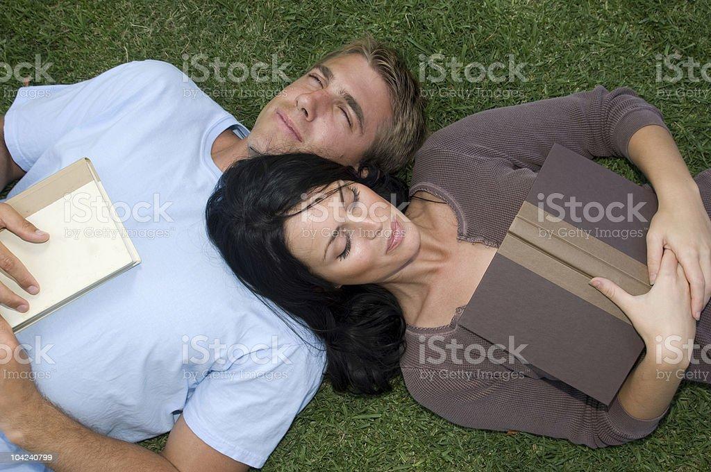 Romantic Reading royalty-free stock photo