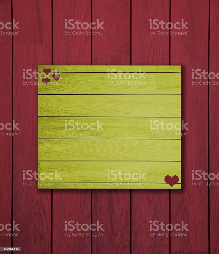 Romántico de madera roja y amarilla foto de stock libre de derechos