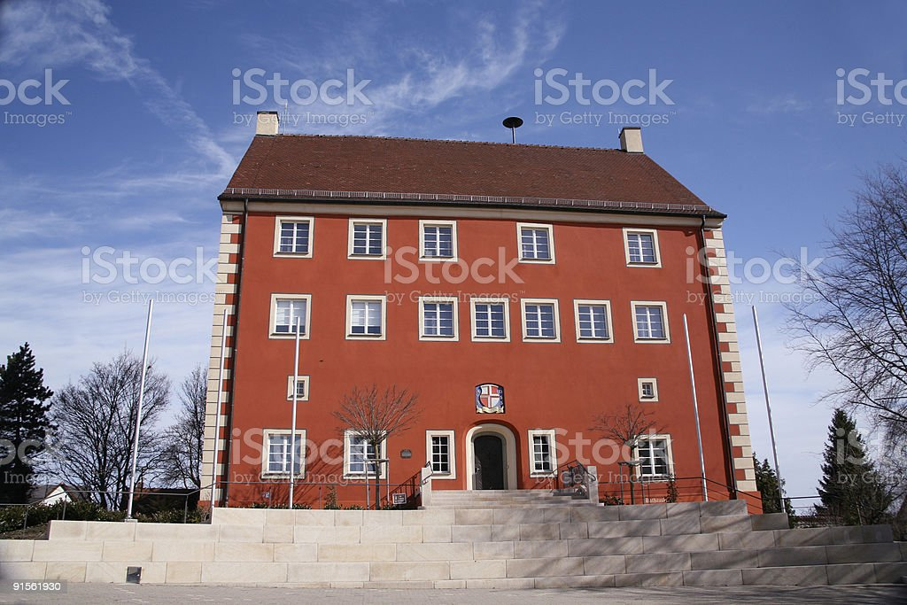Romantic Red house royalty-free stock photo