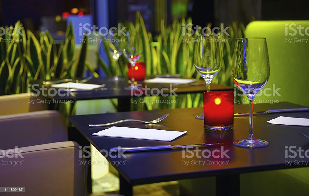 Romantic restaurant royalty-free stock photo