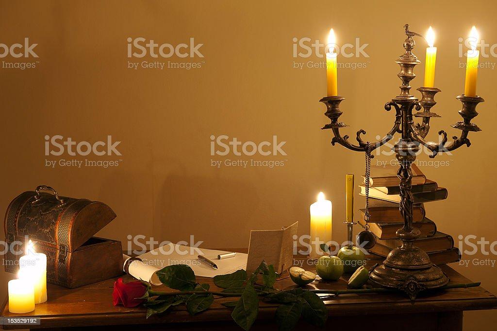 Romantic scene royalty-free stock photo