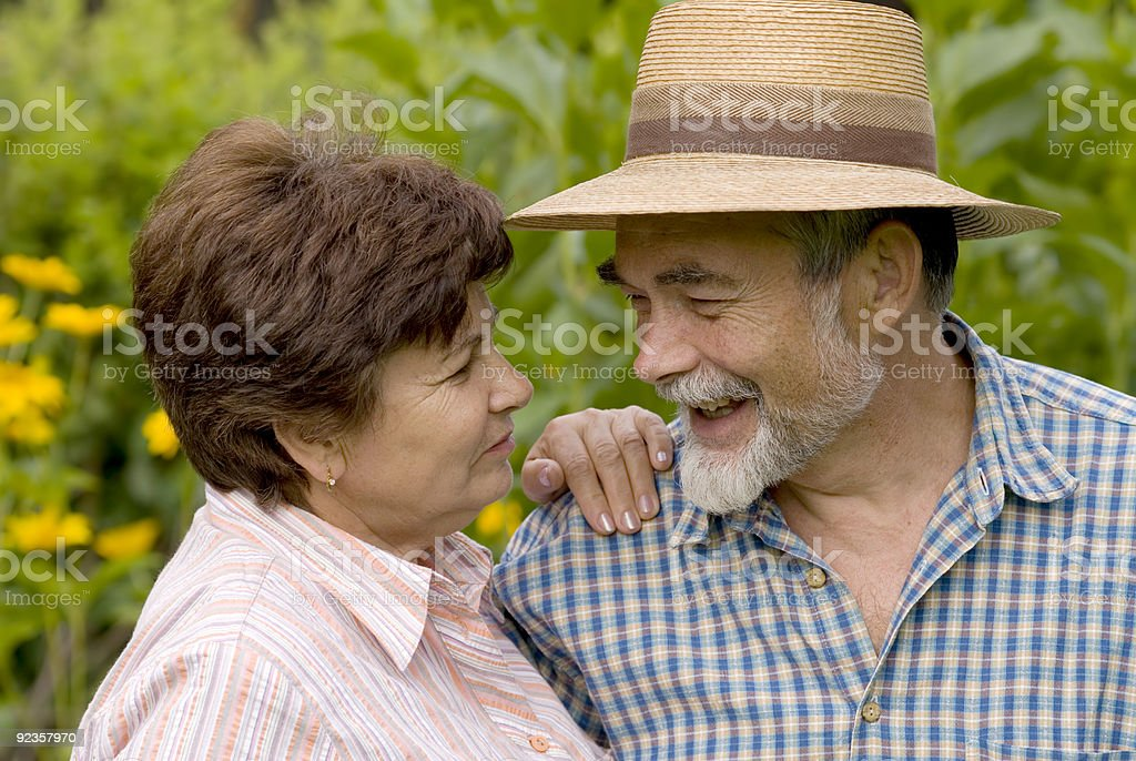 romantic senior couple royalty-free stock photo