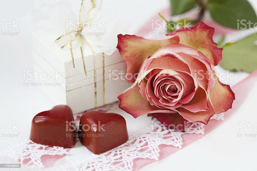 Layout romântico foto royalty-free