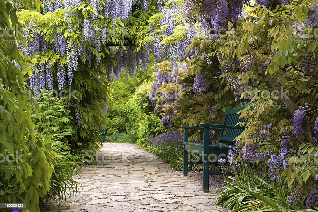 Romantic Spring Ladscape stock photo