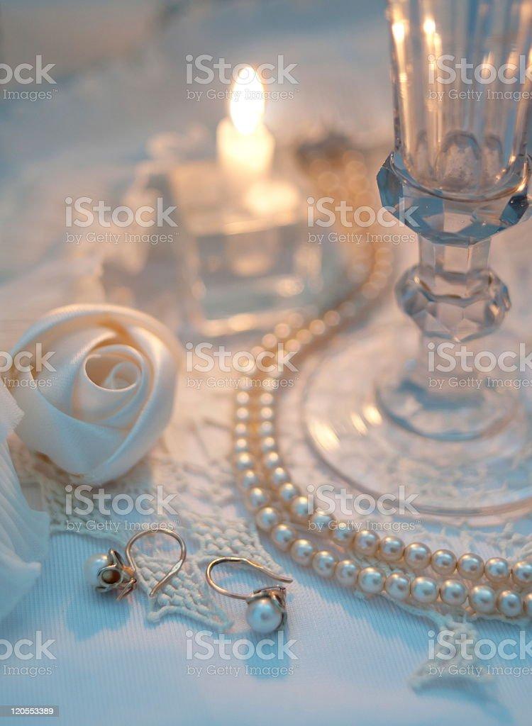 Romantic still life stock photo