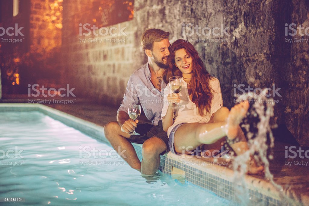 Romantic summer vacation stock photo