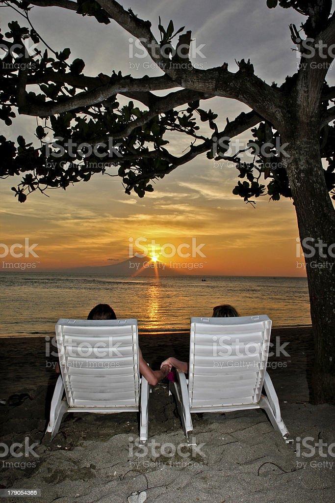 romantic sunset royalty-free stock photo