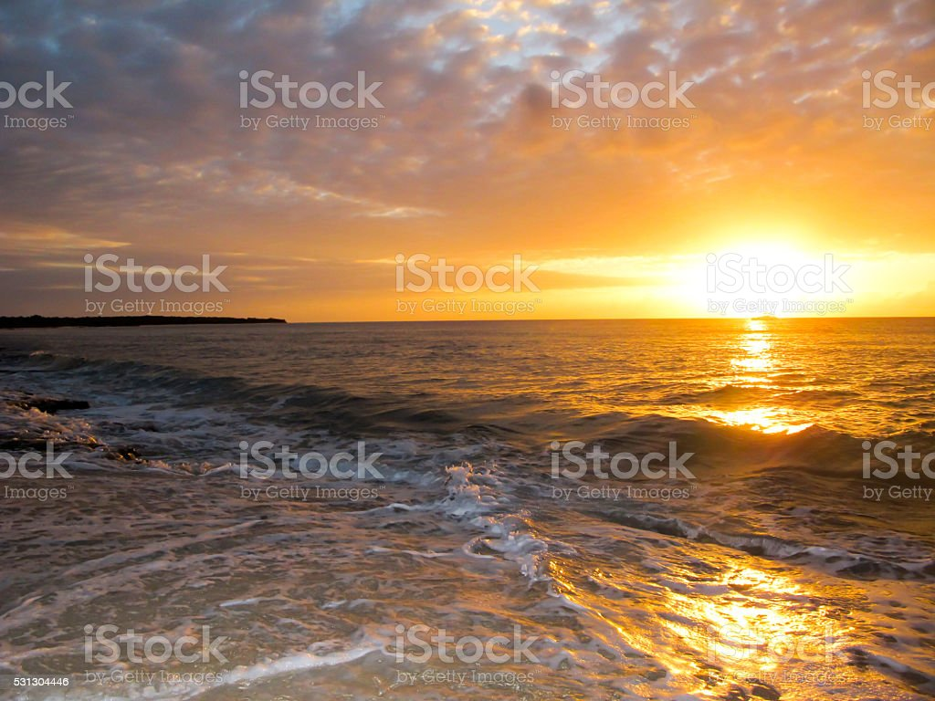 Romantic Sunset stock photo