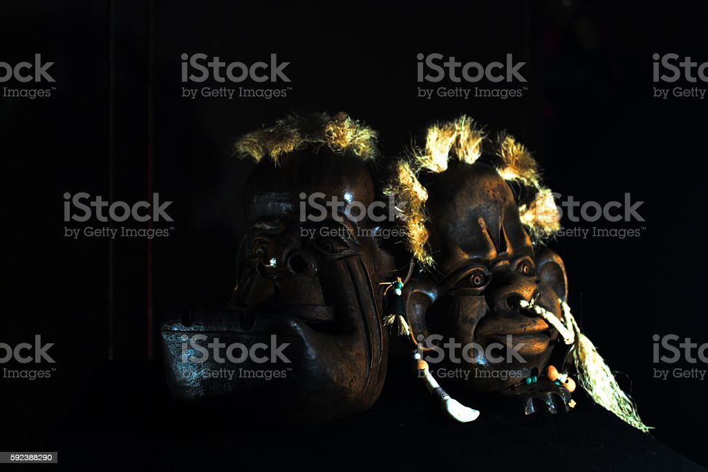 romantic symbols in the arrangement of ceramic objects stock photo