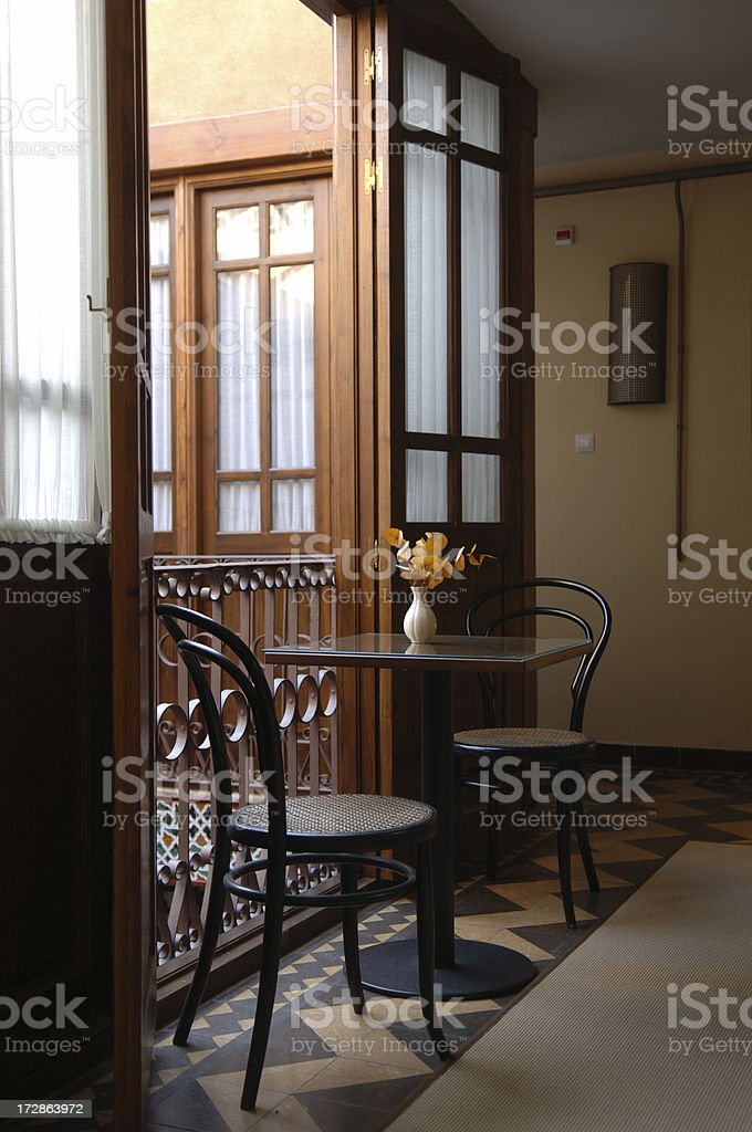 Romantic table for two royalty-free stock photo