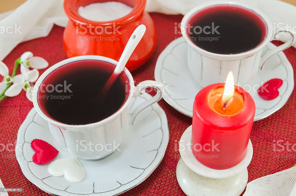 Romantic tea for two royalty-free stock photo