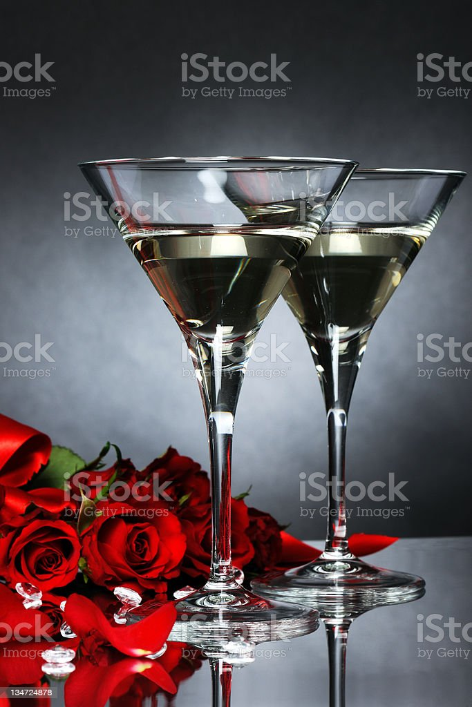 romantic toast royalty-free stock photo