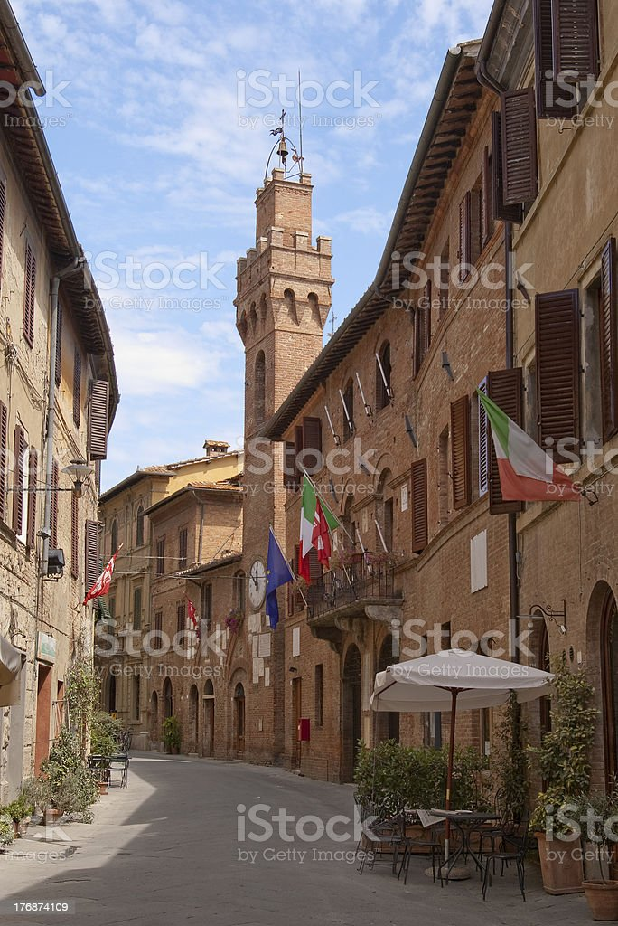 romantic town in Tuscany stock photo