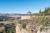 Romantic travellers viewpoint, Ronda, Malaga, Spain