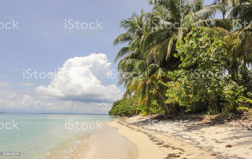 Romantic tropical islands in Caribbean sea. Panama stock photo
