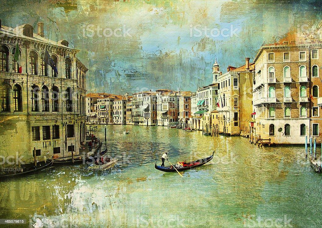 romantic Venice stock photo